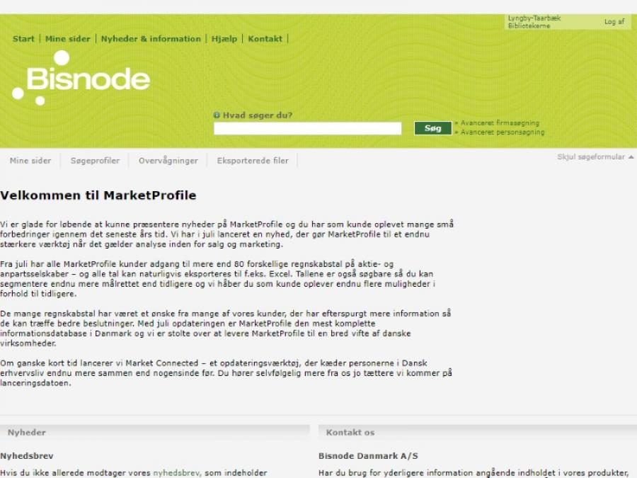 Bisnode MarketProfile
